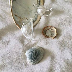 Jewelry - WRAPPED PEARL ACRYLIC EARRINGS